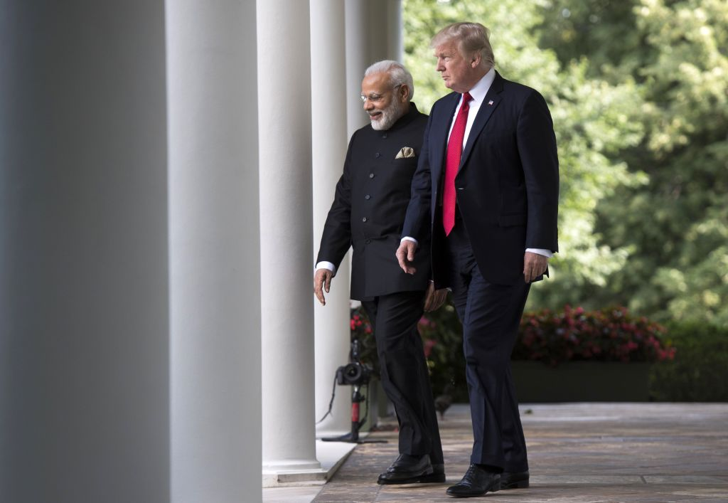 File photo: US President Donald Trump (R) and Indian Prime Minister Narendra Modi at the White House in Washington D.C.(Photo: SAUL LOEB/AFP via Getty Images)