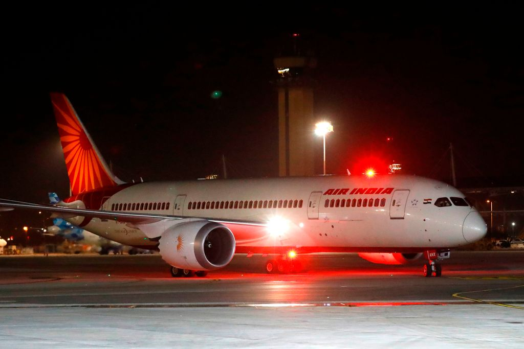 File photo of an Air India Boeing 787 (JACK GUEZ/AFP via Getty Images)