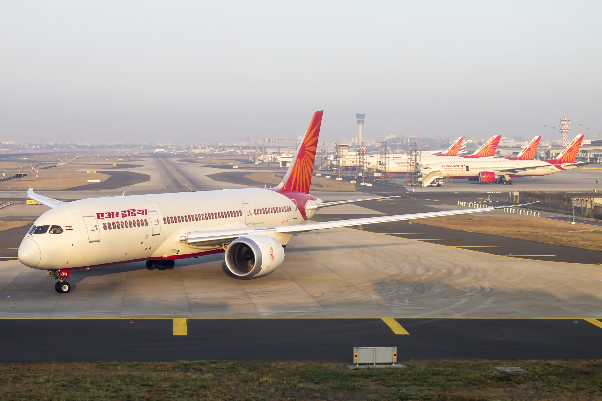 Representational image: An Air India 787 Dreamliner readies for departure as other fleet of Boeing 777, 747 are seen in the backdrop. (iStock)