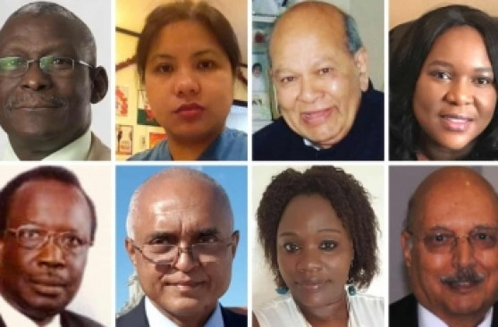 A collage showing BAME medics who died of Covid-19 (Courtesy:  OBV)