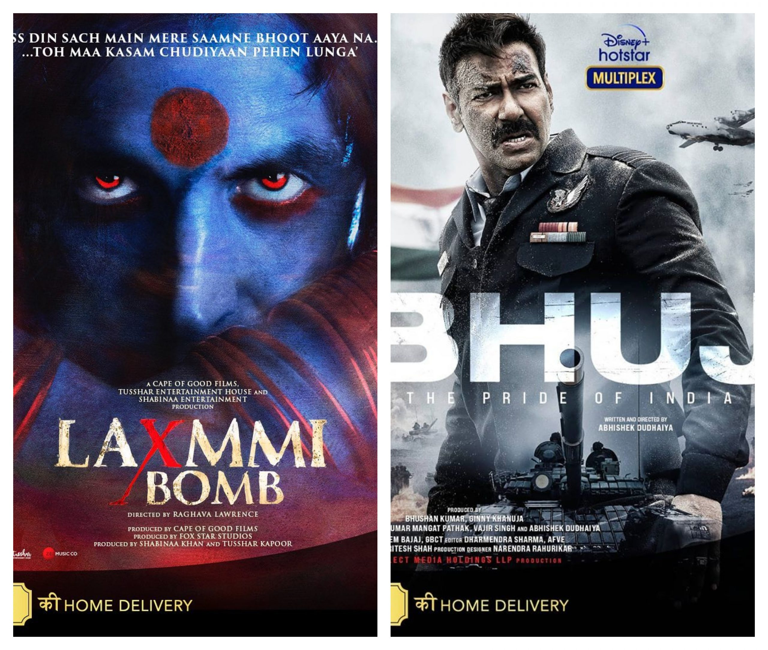 Laxmmi Bomb & Bhuj: The Pride of India Posters