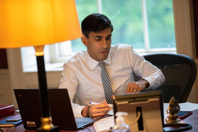"""""""Our top priority has always been to support people, protect jobs and businesses through this crisis. The furlough and self-employment schemes have been a lifeline for millions of people and businesses,"""" said Chancellor Rishi Sunak. (Photo: Twitter)"""