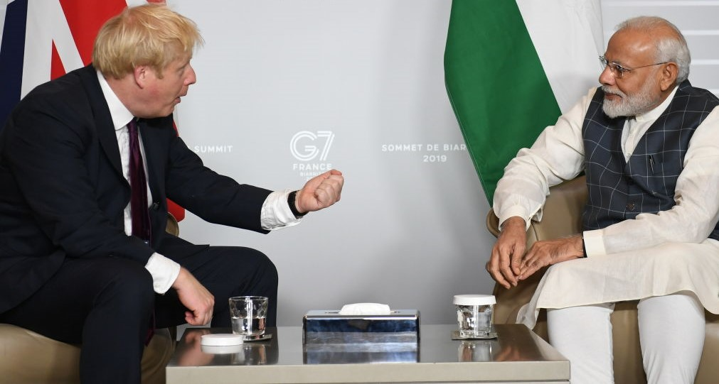 File photo of British Prime Minister Boris Johnson with his counterpart Narendra Modi. (Photo: Stefan Rousseau/Getty Images)