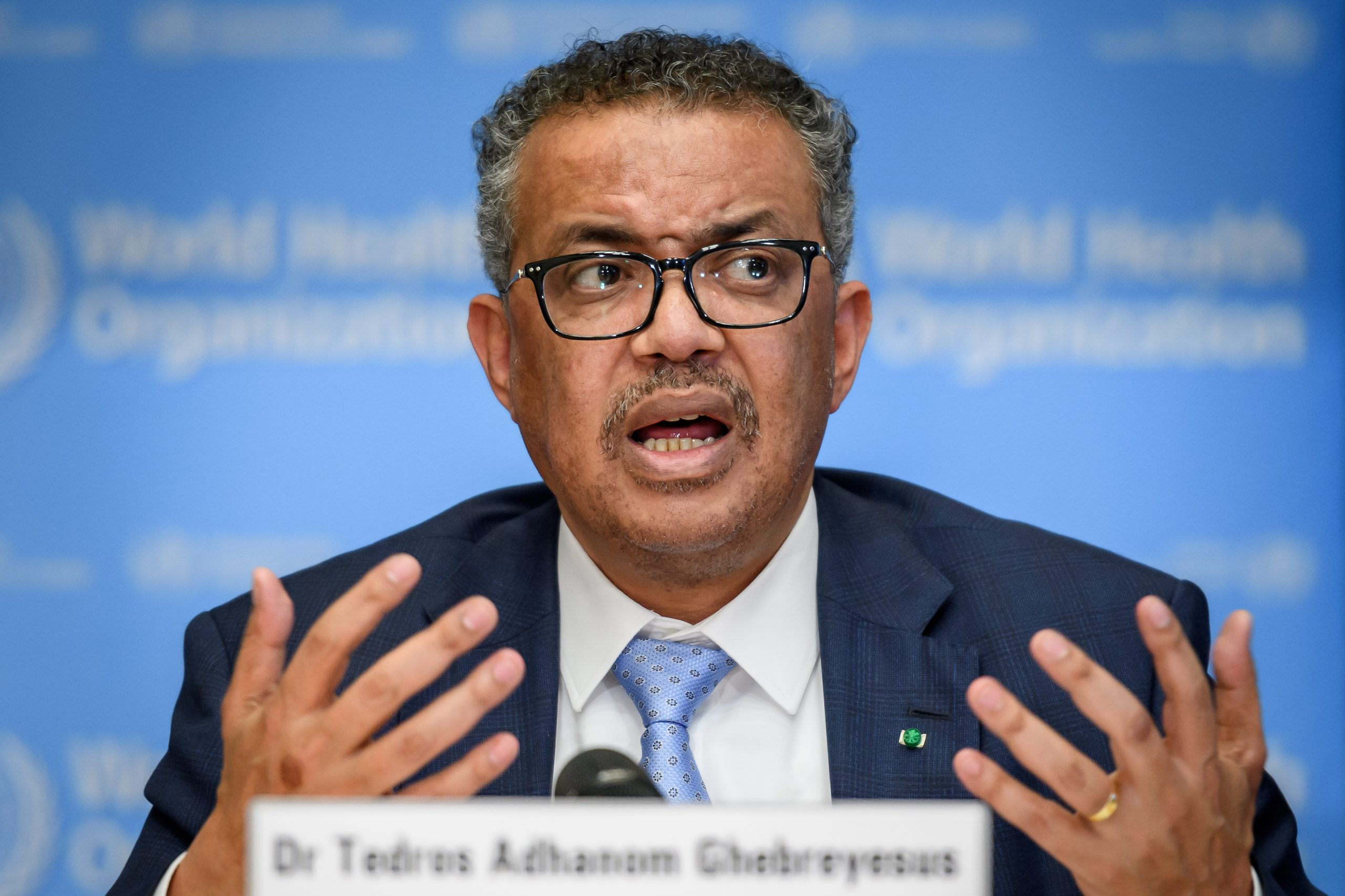 World Health Organization (WHO) Director-General Tedros Adhanom Ghebreyesus (Photo by FABRICE COFFRINI/AFP via Getty Images)