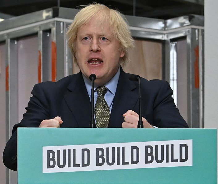 Prime Minister Boris Johnson delivers a speech during a visit to Dudley College of Technology on June 30, 2020. (Photo: Paul Ellis/Getty Images)
