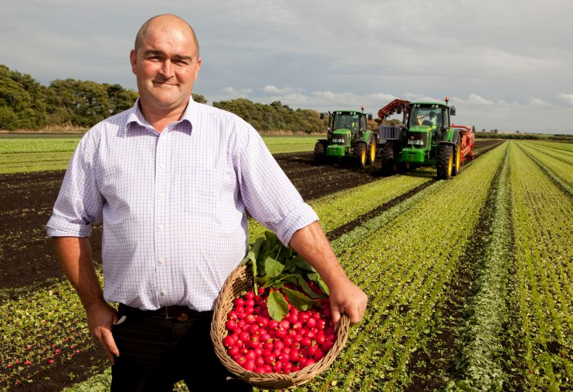 Scott Watson, radish grower at G's Growers in Feltwell, Norfolk