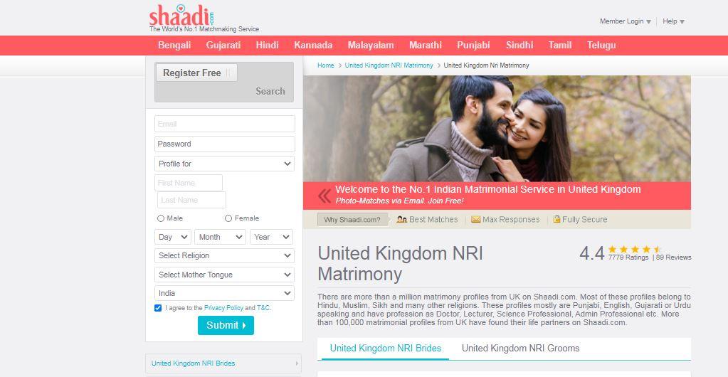 Shaadi matrimony search