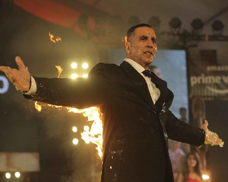 Akshay Kumar at the launch of The End