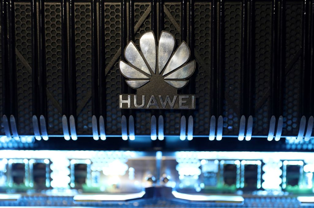 "A UK security investigation, yet to be published, has raised ""very, very serious"" questions over Huawei's 5G role in Britain, said a report. Pictured here is a Huawei NetEngine 8000 Intelligent Metro Router presented at a 5G event in London, in February, 2020.  (Photo: ISABEL INFANTES/AFP via Getty Images)"