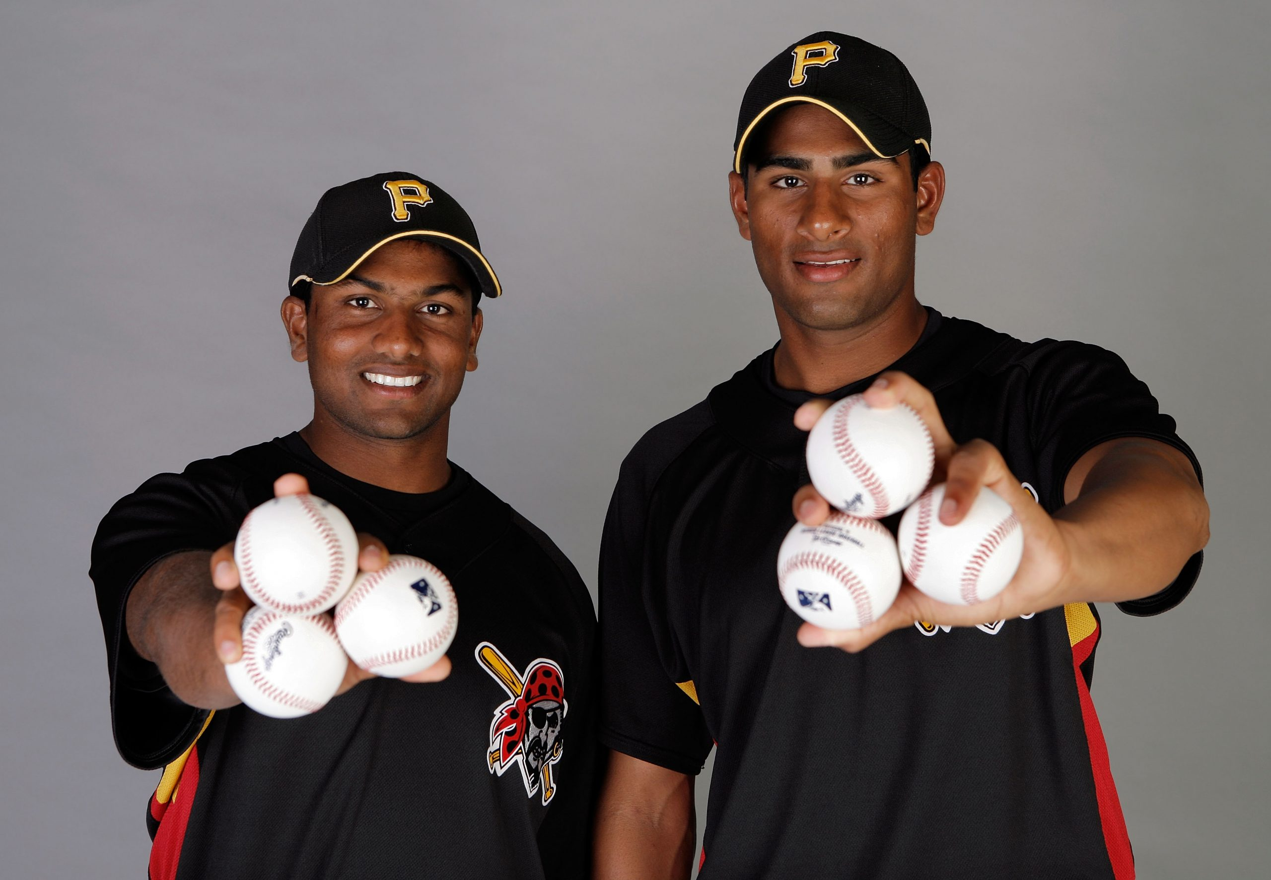 Dinesh Patel (L) and Rinku Singh were part of Million Dollar Arm  (Photo by Doug Benc/Getty Images)