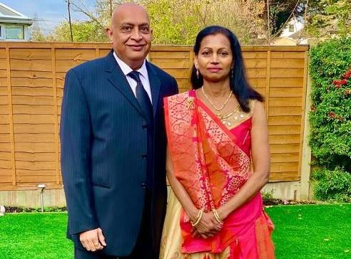 Rohit Patel with wife Harshila (Courtesy: Barking, Havering and Redbridge University Hospitals NHS Trust)