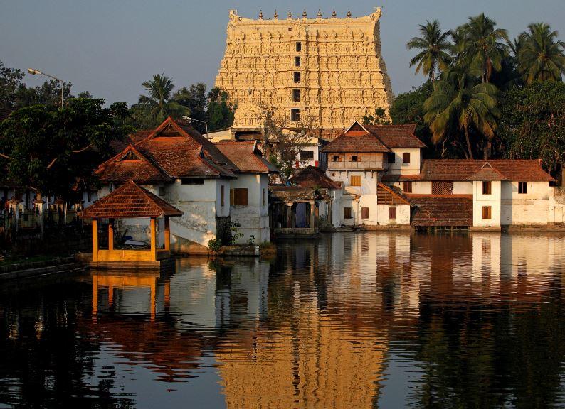 FILE PHOTO: A view of Sree Padmanabhaswamy temple in Thiruvananthapuram, capital of the southern Indian state of Kerala, February 20, 2012. REUTERS/Danish Siddiqui/File Photo