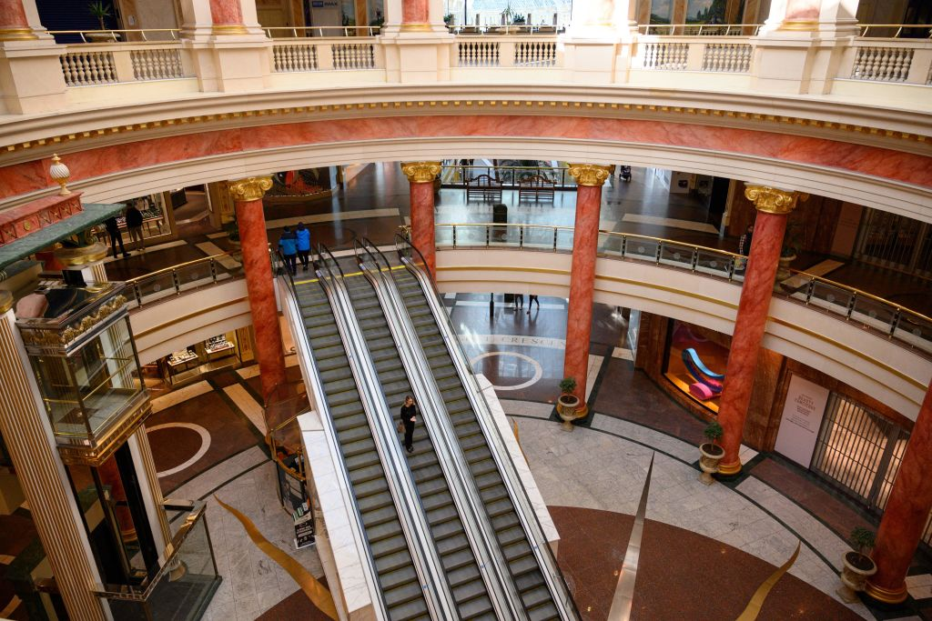 Manchester's Trafford Centre --one ofBritain's major shopping destinations -- was last valued publicly by Intu at close to £1.7 billion, but analysts expect it to be sold for at least 20 per cent lower. (Photo: OLI SCARFF/AFP via Getty Images)