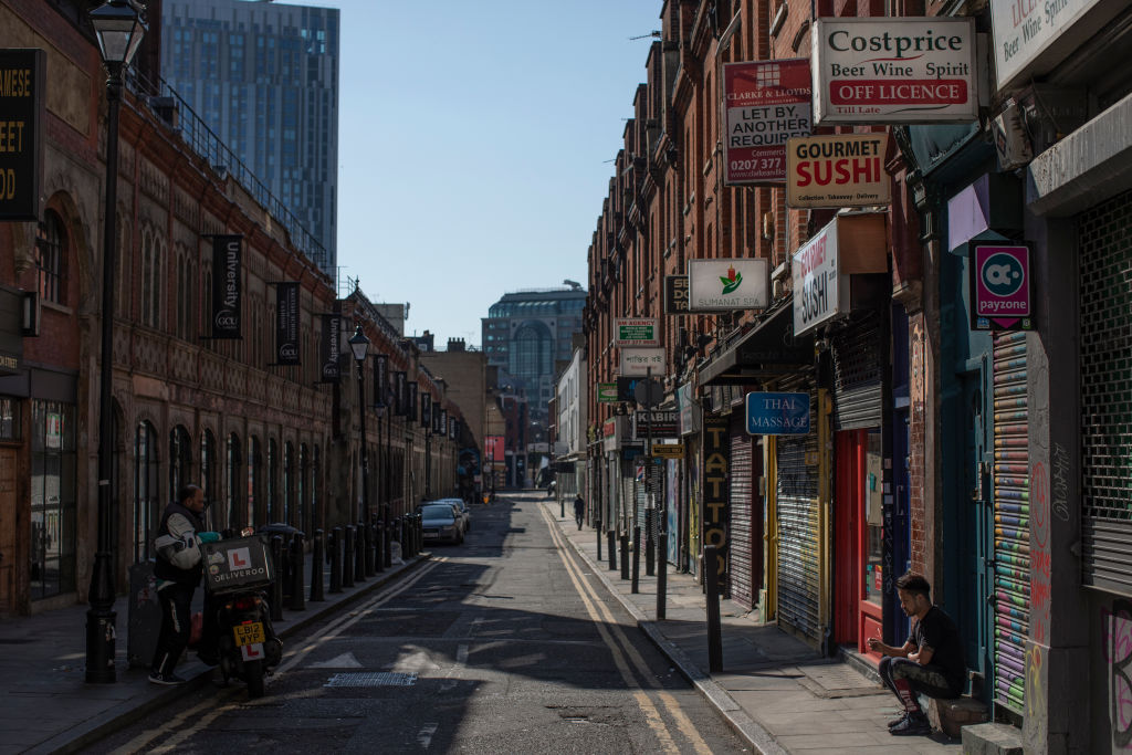 Shops and businesses remain closed off Brick Lane on April 21, 2020 in London, England. (Photo: Dan Kitwood/Getty Images).