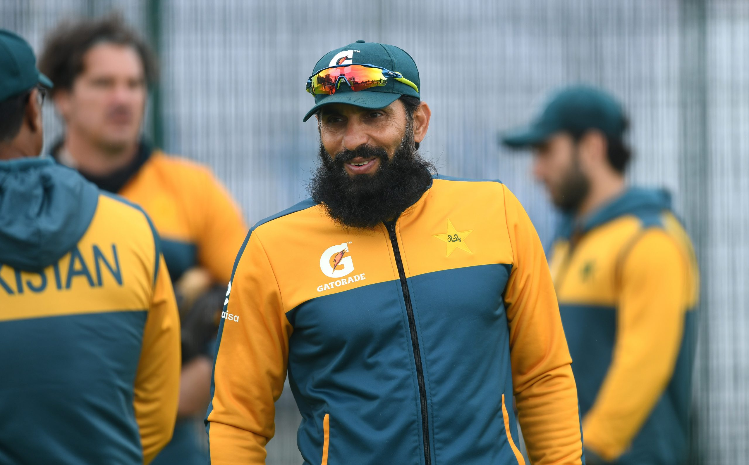 Pakistan Head Coach Misbah-ul-Haq looks on during a Pakistan Nets Session at Emirates Old Trafford on August 03, 2020 in Manchester, England. (Photo by Gareth Copley/Getty Images)