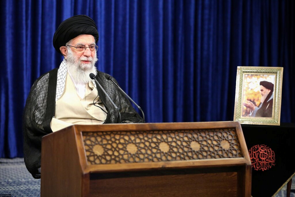"""Iran's supreme leader, Ayatollah Ali Khamenei, earlier  said the UAE had """"betrayed"""" the Muslim world and that he hoped they would """"soon wake up and compensate for what they have done"""". (Official Khamenei website/Handout via REUTERS)"""