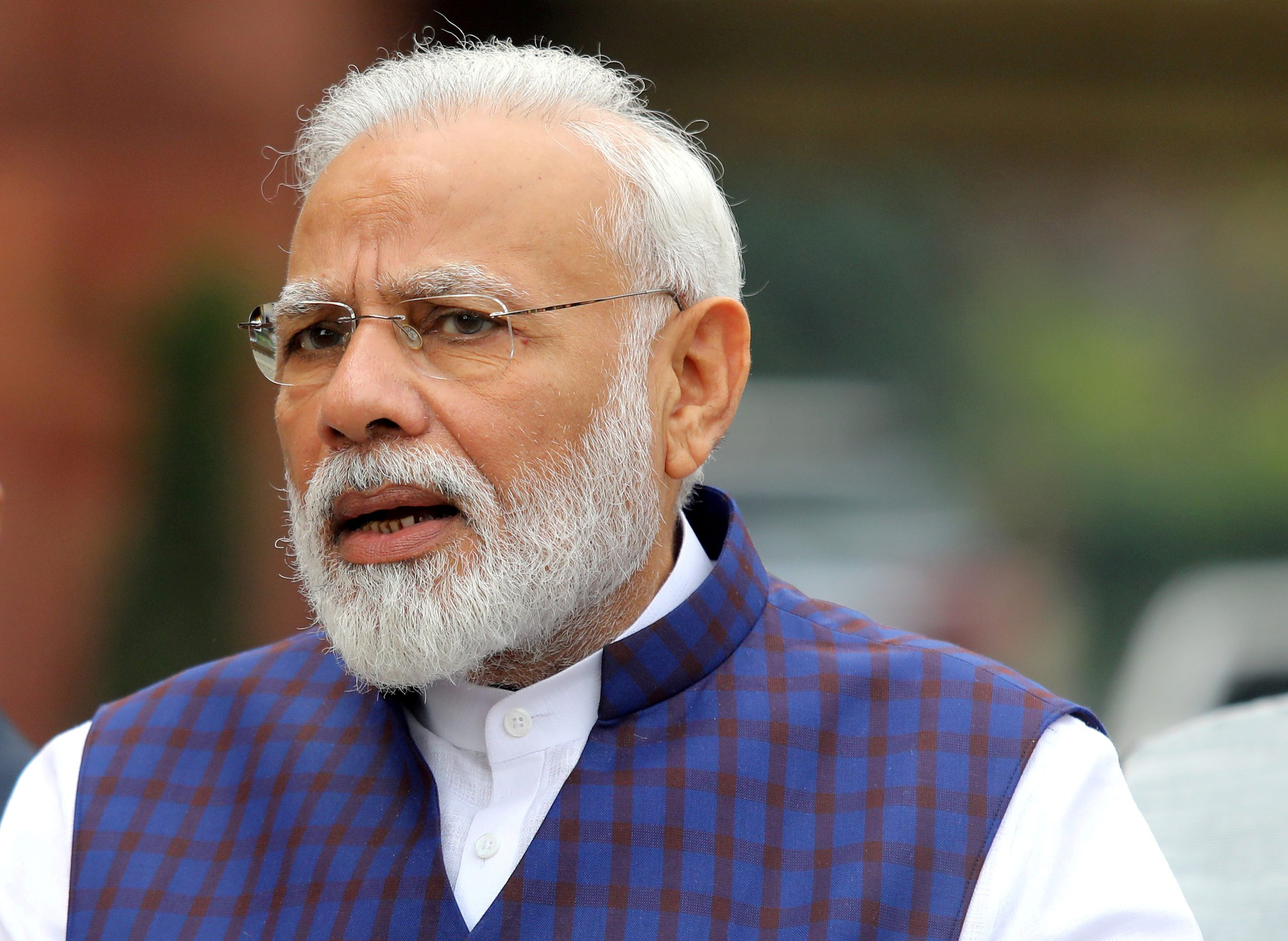 The hacked account, with over 2.5 million followers, was the official Twitter handle for Modi's personal website and the Narendra Modi app. His personal Twitter account was unaffected. (REUTERS/Altaf Hussain/File Photo