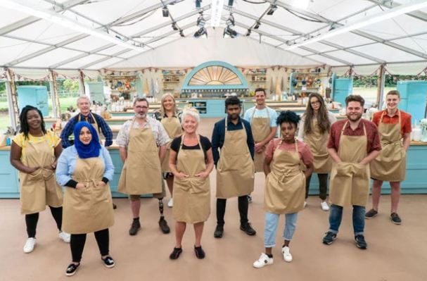Contestants for the The Great British Bake Off show (Image source: Radiotimes.com)