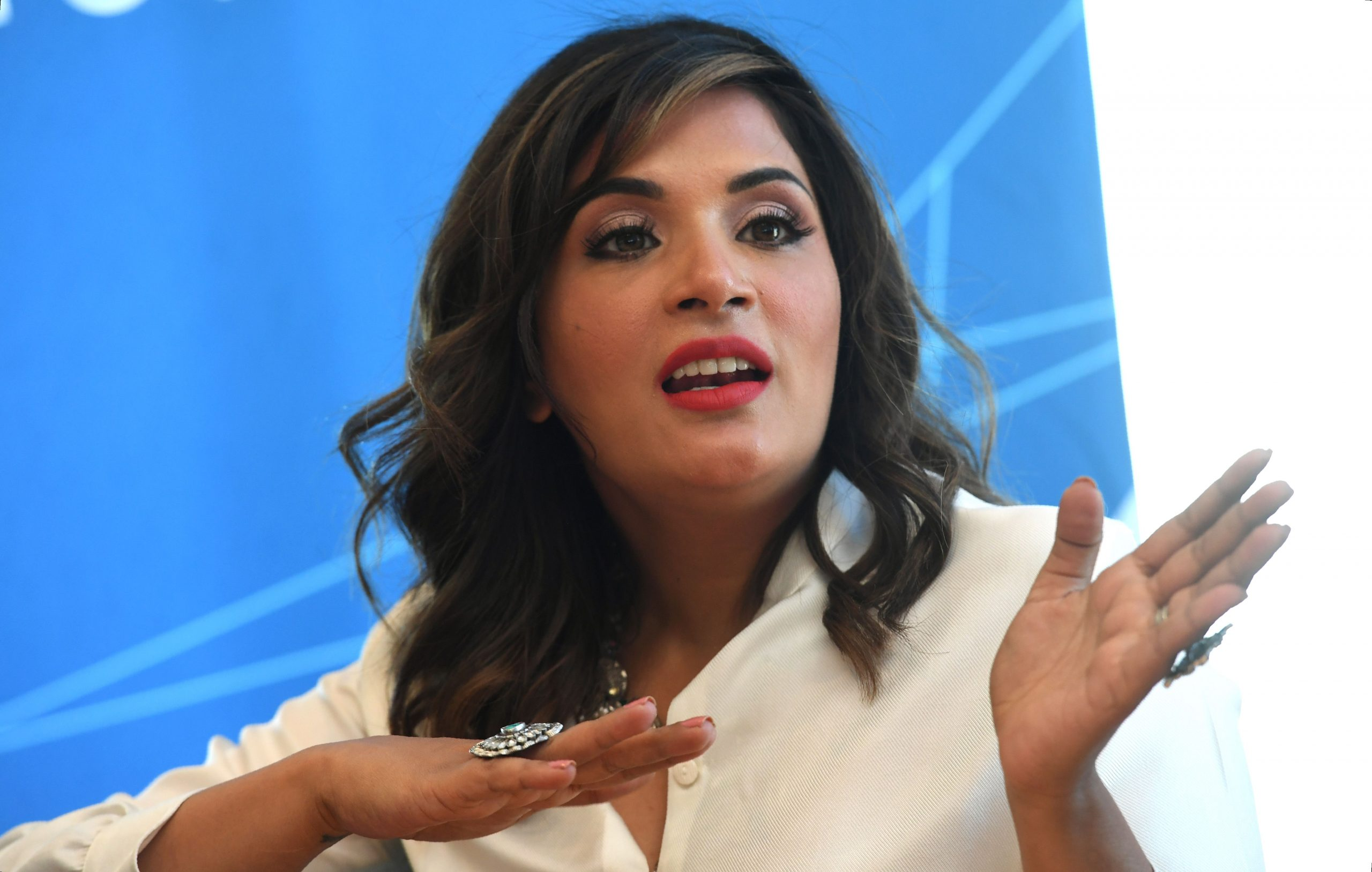 Richa Chadha  (Photo by William WEST / AFP)        (Photo credit should read WILLIAM WEST/AFP via Getty Images)
