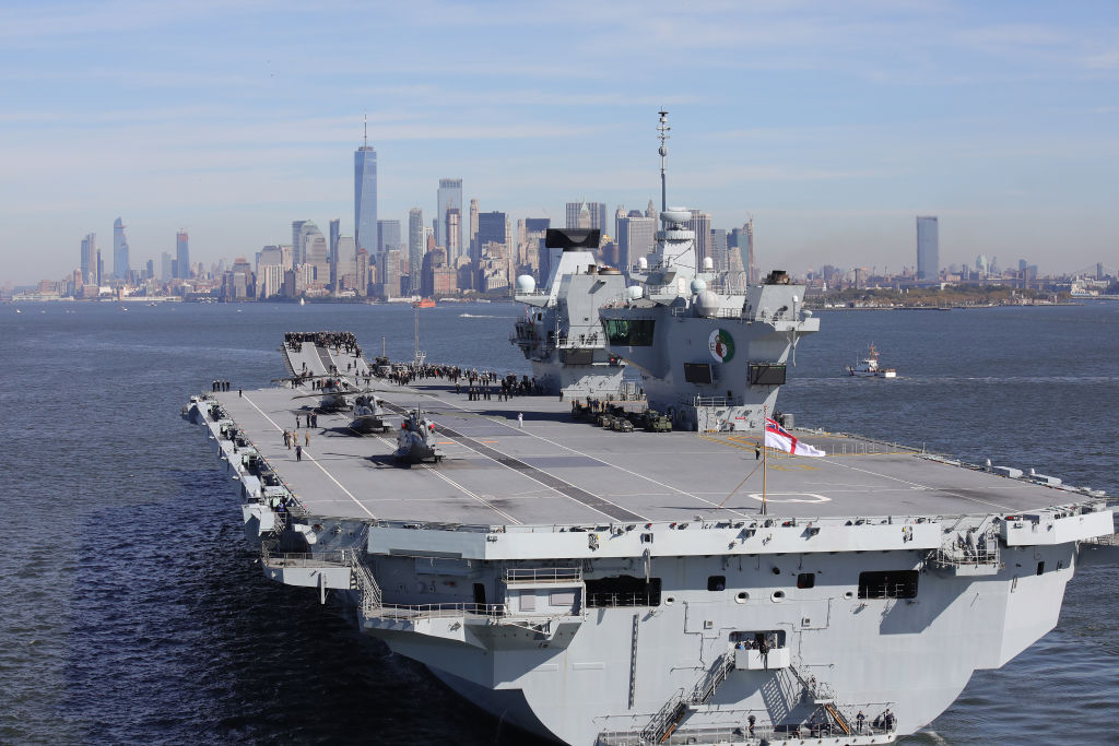 The Oman port offers a dry dock facilitythat can support Britain's two aircraft carriers, HMS Queen Elizabeth (in pic) and HMS Prince of Wales. (Photo: Christopher Furlong/Getty Images)