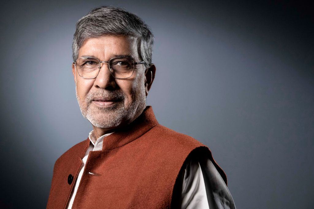 FILE PHOTO: Indian children's right's activist and 2014 Nobel Peace Prize Laureate Kailash Satyarthi (JOEL SAGET/AFP via Getty Images)