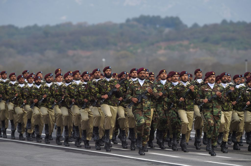 FILE PHOTO: Pakistan Special Service Group commandos march during the Pakistan Day parade in Islamabad on March 23, 2019. (FAROOQ NAEEM/AFP via Getty Images)