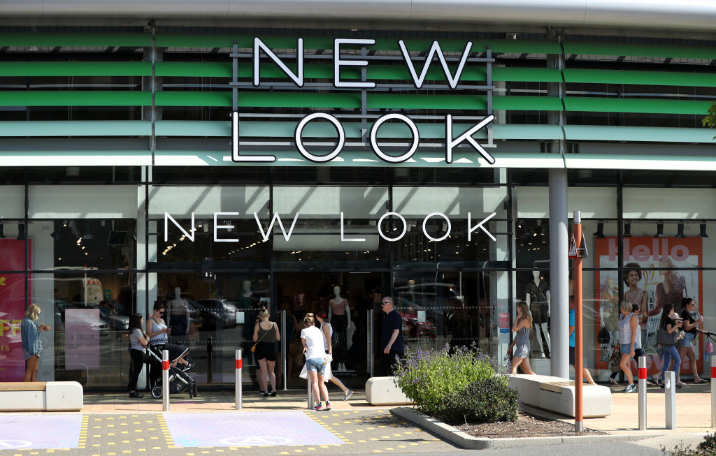 FILE PHOTO: Queues form at New Look at the Rushden Lakes shopping complex on June 15, 2020 in Rushden, United Kingdom. (Photo by David Rogers/Getty Images)
