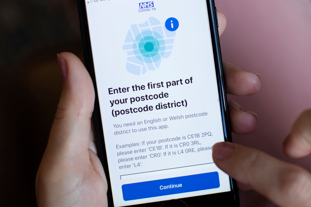 """The app does not hold personal information such as your name, address or date of birth, and only requires the first half of your postcode to ensure local outbreaks can be managed,"" says the health department. (Photo: Dan Kitwood/Getty Images)"