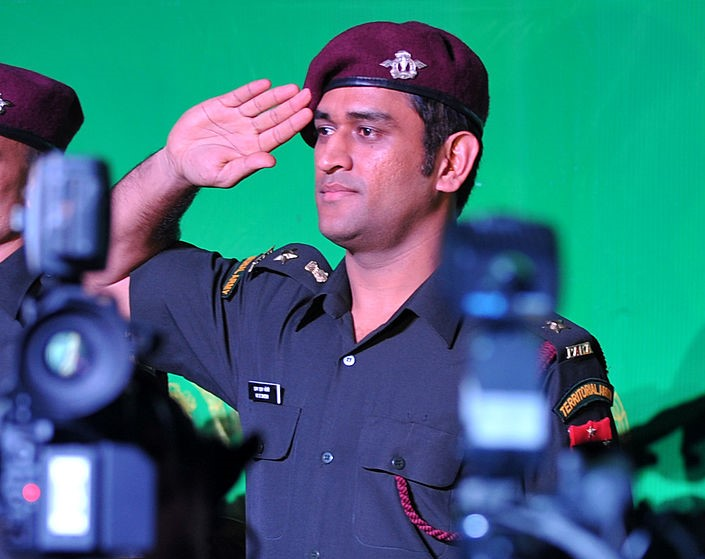 Even if so for a brief while, cricket was meant to take a back seat for MS Dhioni, an honorary lieutenant colonel in India's Territorial Army, who holds dear anything that is related to the military. (File photo: SAJJAD HUSSAIN/AFP via Getty Images)