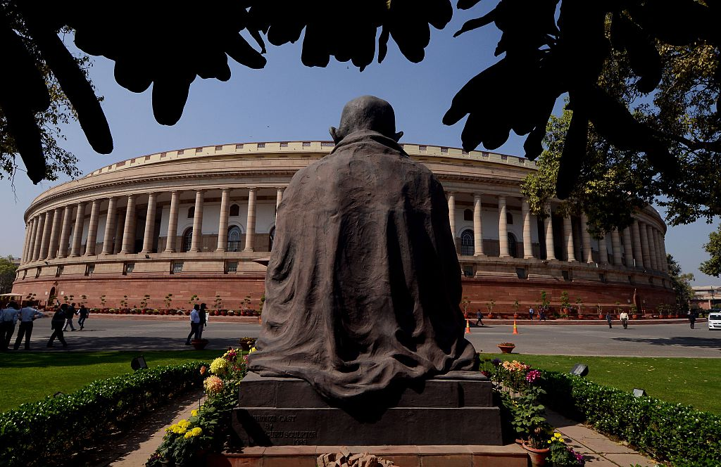 FILE PHOTO: A general view of the Indian Parliament. (MONEY SHARMA/AFP via Getty Images)
