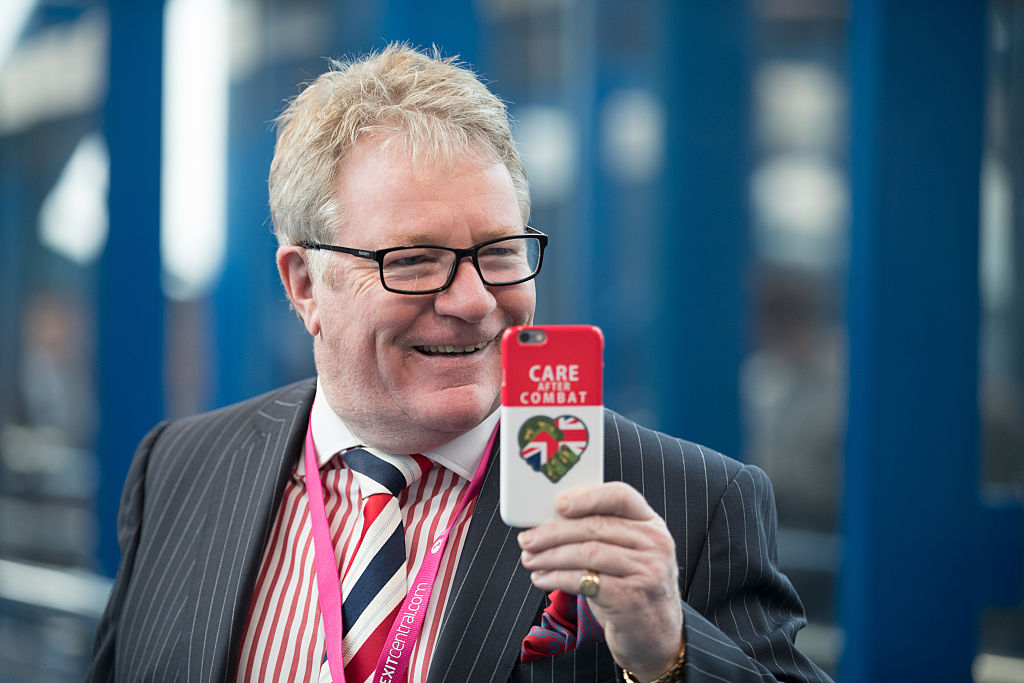 FILE PHOTO: Comedian Jim Davidson arrives on the third day of the Conservative Party Conference 2016 at the ICC Birmingham on October 4, 2016 in Birmingham, England. (Photo by Matt Cardy/Getty Images)