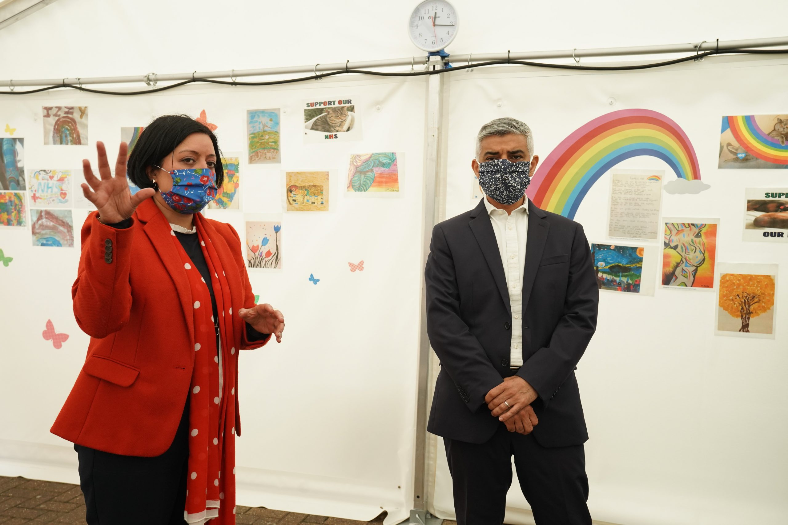 Newham mayor Rokhsana Fiaz and London mayor Sadiq Khan promoted the test and trace app last week during a visit to Newham's walk-in coronavirus test centre in East Ham
