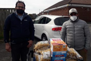 Coronavirus - NETWORK PLAN: Volunteers from the Ahmadiyya Muslim Community UK (pictured) are running a number of initiatives to help members of its congregation