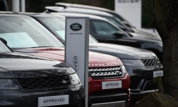 Business - FILE PHOTO: Range Rover cars at a Land Rover dealership in Wakefield. (OLI SCARFF/AFP via Getty Images)