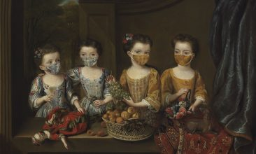 Arts and Culture - SENSE OF HUMOUR: The Daughters of Sir Matthew Decker. Cambridge's Fitzwilliam Museum has added face coverings to some of its best-known paintings. (All images © Fitzwilliam Museum)