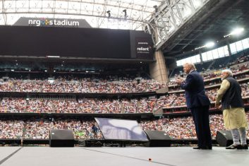 """News - File Photo: US President Donald Trump and Indian Prime Minister Narendra Modi attend """"Howdy, Modi!"""" at NRG Stadium in Houston, Texas, September 22, 2019.  """"I think we're so lucky as a country to have so many talented, dedicated, patriotic Indian-Americans making up the incredibly diverse fabric culturally of this country and we're lucky that they have called it their home,""""        says Kimberly Guilfoyle, senior adviser to Donald Trump for President, Inc. (Photo: SAUL LOEB/AFP via Getty Images)"""