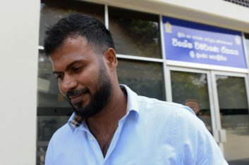 CRICKET - Upul Tharanga, a Sri Lankan cricketer in the the 2011 World Cup squad, leaves the Special Investigation Unit in Colombo on July 1, 2020. (Photo by LAKRUWAN WANNIARACHCHI/AFP via Getty Images)