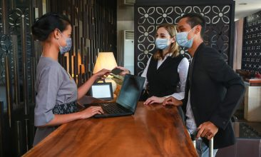 Business - NEW NORMS: Visitors could expect to see face masks, plexiglass dividers at check-in and advice to maintain social distancing