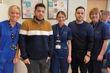 Tribute to the NHS - Hessam and Hamed with the NHS staff.