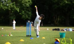 "Coronavirus - A young cricketer in action during a juniors training session at Roehampton Cricket Club in London, England. Prime Minister Boris Johnson has set aside his reservations on return of recreational cricket, saying he ""sought scientific advice"" after being ""stumped"". (Photo: Alex Davidson/Getty Images)"
