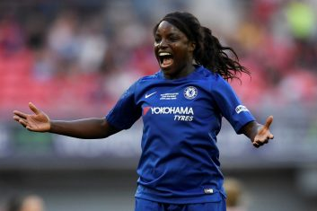 "FOOTBALL - ""We are still seeing a glass ceiling to a certain extent. We've gone to having great representation on the pitch... but that transition doesn't necessarily reflect when it goes off the pitch into the boardroom and even in ownership"" says former England player Eniola Aluko. (Tony O'Brien/File Photo/ REUTERS)"