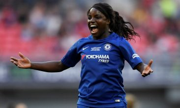 """FOOTBALL - """"We are still seeing a glass ceiling to a certain extent. We've gone to having great representation on the pitch... but that transition doesn't necessarily reflect when it goes off the pitch into the boardroom and even in ownership"""" says former England player Eniola Aluko. (Tony O'Brien/File Photo/ REUTERS)"""