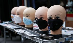 Coronavirus - Face masks for sale at an outdoor market in Islington on July 11, 2020 in London. Prime Minister Boris Johnson has said he might make face coverings mandatory in all enclosed public spaces, such as shops. (Photo: Hollie Adams/Getty Images)