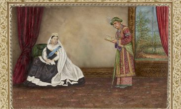 Arts and Culture - The Eastern Encounters exhibition features a painting by artist Varanasi, depicting the Queen's travels in Scotland and Ireland