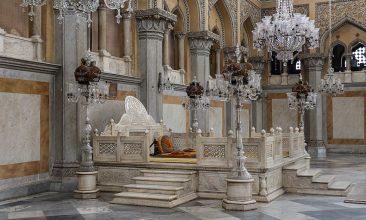 INDIA - The Nizam's of Hyderabad throne in Chowmahalla Palace
