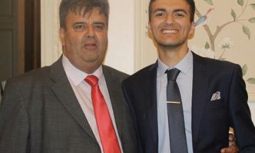 HEADLINE STORY - TRIBUTE: Zain Rizvi (right) with his late uncle Syed Ali Rasheed