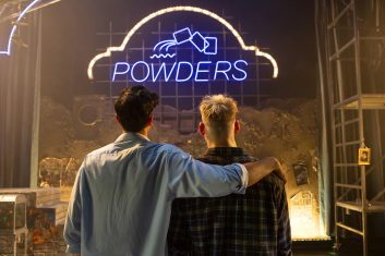 FEATURES - Omar Malik and Jonny Fines in scenes from the 2019 production of My Beautiful Laundrette (Photo credit: Ellie Kurttz)