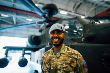 FEATURES - ON THE BALL: Air Trooper Munib Sheikh joined the army in 2015, after he took part a three-day army camp in the Queen Elizabeth barracks in York (Pic credit: Capt I Maclennan 4AAC)