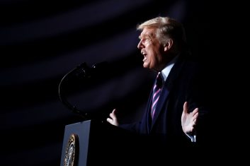 News - President Donald Trump speaks during a campaign rally in Minnesota on September 18, 2020. (REUTERS/Tom Brenner)