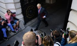 Coronavirus - Prime Minister Boris Johnson leaves a cabinet meeting at the FCO on September 22, 2020 in London, England. (Photo: Leon Neal/Getty Images)